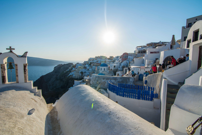 Atardecer Oya Santorini Grecia